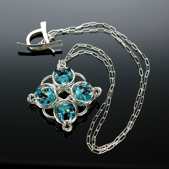 Celtic Diamond pendant - Kat Wisniewski of Elemental Art Jewelry