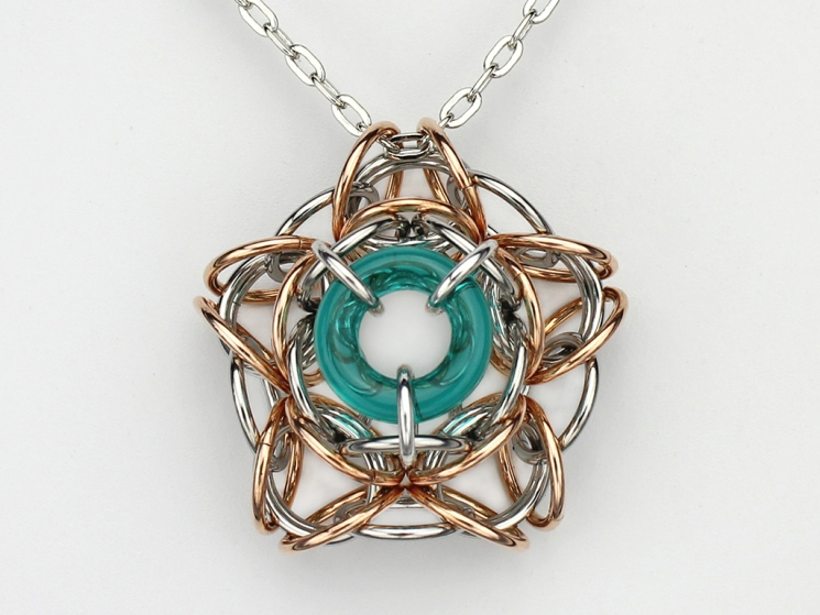 Interstellar pendant kit - Teal - from New Connections book