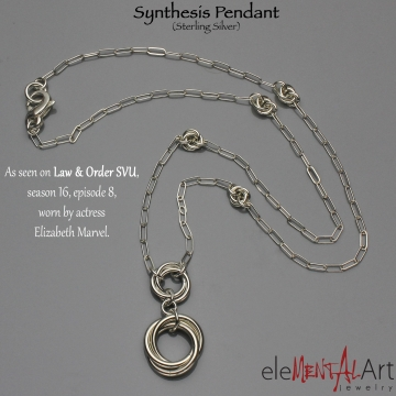 Synthesis Pendant- Chainmaille- Sterling Silver