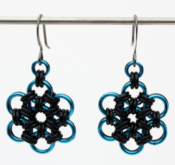 Japanese Rubber Bloom Pendant and Earrings