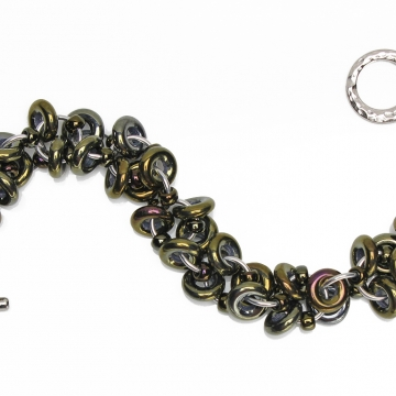 *LIMITED TIME* Decadent Confection bracelet kit - Bronze Iris - from New Connections book